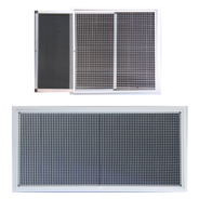 Hinged Eggcrate Grilles with Removable Filter
