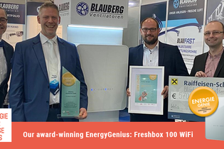 Freshbox 100 WiFi is in the TOP-7 best energy-saving innovations of 2020 according to Building Times